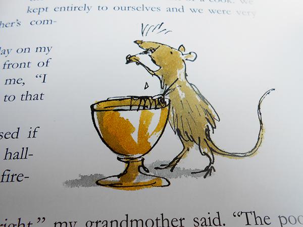 """Dettaglio di una pagina tratta da """"The Roald Dahl Treasury"""""""