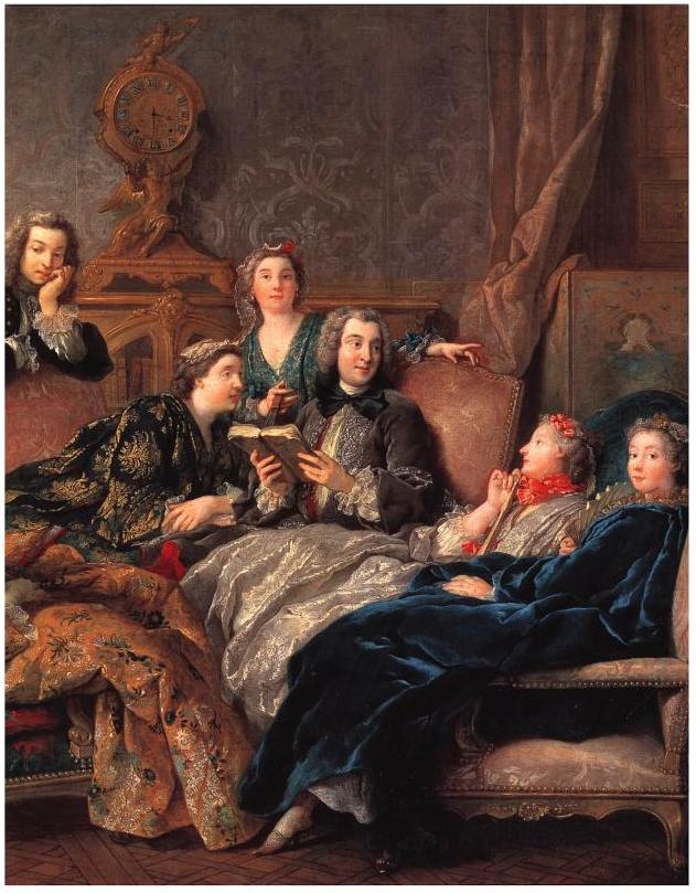 """Jean François de Troy - """"Le letture di Molière"""""""