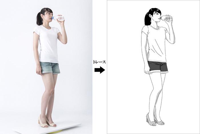 Un disegno realizzato seguendo la reference di mmanga.net